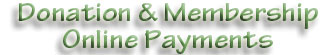 Donation & Membership Online Payments